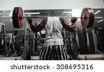 weight training african doing... | Shutterstock . vector #308695316