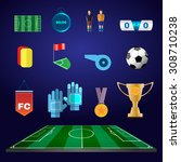 soccer game icons. football... | Shutterstock .eps vector #308710238