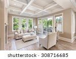beautiful living room with... | Shutterstock . vector #308716685