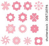 pink flower style | Shutterstock .eps vector #308718596