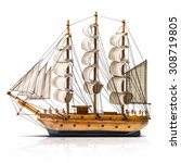 Model Of The Wooden Antique...