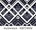 geometric ethnic pattern... | Shutterstock .eps vector #308723006
