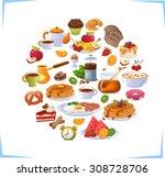 breakfast | Shutterstock .eps vector #308728706