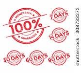 money back guarantee red stamp... | Shutterstock .eps vector #308733272