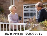 Mature Smiling Woman Talking...