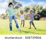 happy family with teenager son... | Shutterstock . vector #308739806