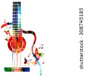 Colorful Music Background With...