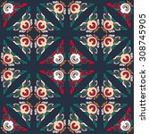 vector seamless pattern ethnic... | Shutterstock .eps vector #308745905