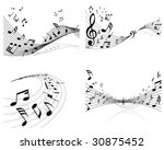 set of vector musical notes... | Shutterstock .eps vector #30875452