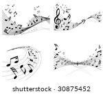 set of vector musical notes... | Shutterstock .eps vector #30875452
