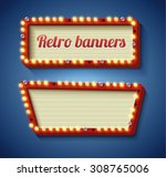 illustration of retro vintage... | Shutterstock .eps vector #308765006