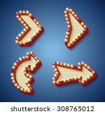 illustration of retro vintage... | Shutterstock .eps vector #308765012