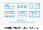 web design thin flat | Shutterstock .eps vector #308766212