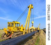 on the pipeline repairs | Shutterstock . vector #308775602