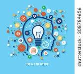 idea creative concept design on ... | Shutterstock .eps vector #308784656