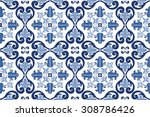 traditional ornate portuguese... | Shutterstock .eps vector #308786426