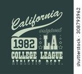 california sport emblem design  ... | Shutterstock . vector #308793962