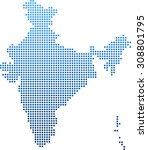map of india | Shutterstock .eps vector #308801795