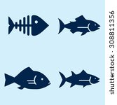 fish icons | Shutterstock .eps vector #308811356