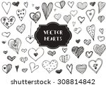 vector graphic set of hand... | Shutterstock .eps vector #308814842