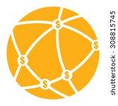 orange money network  mlm... | Shutterstock . vector #308815745