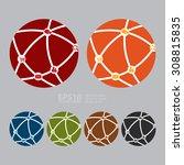 vector   social network... | Shutterstock .eps vector #308815835