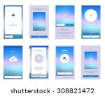 mobile screens user interface... | Shutterstock .eps vector #308821472
