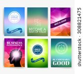 template. set of poster  flyer  ... | Shutterstock .eps vector #308821475
