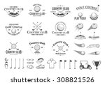 set of golf country club logo... | Shutterstock .eps vector #308821526