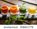 Colorful Stack With Smoothies