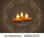 happy diwali religious vector... | Shutterstock .eps vector #308822525