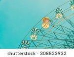 vintage ferris wheel in the... | Shutterstock . vector #308823932