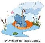 Hippo Adventure Cartoon