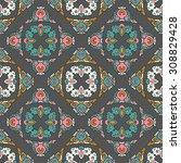 vector seamless pattern ethnic... | Shutterstock .eps vector #308829428