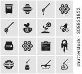 vector black honey icon set. | Shutterstock .eps vector #308831852