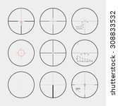 set of the real gun sights. the ... | Shutterstock . vector #308833532