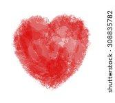 heart of paint stains  brush... | Shutterstock .eps vector #308835782