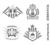 set of beer and brewery... | Shutterstock .eps vector #308844536