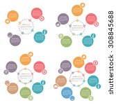circle infographics design... | Shutterstock .eps vector #308845688