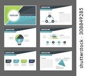 blue and green multipurpose... | Shutterstock .eps vector #308849285
