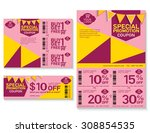 sale flyer  promotions coupon... | Shutterstock .eps vector #308854535