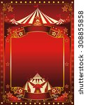 red magic circus poster. a red... | Shutterstock .eps vector #308855858