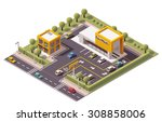 vector isometric icon or... | Shutterstock .eps vector #308858006