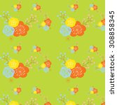 wallpaper seamless vintage... | Shutterstock . vector #308858345
