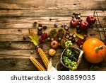 Autumn Fruit Background. Autum...