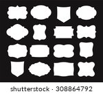 set of simple frames.... | Shutterstock .eps vector #308864792