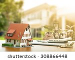 mortgage loading and calculator ... | Shutterstock . vector #308866448