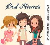 vector cartoon illustration of... | Shutterstock .eps vector #308868425