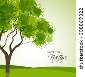 creative tree made by green... | Shutterstock .eps vector #308869322