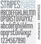 stripes retro style graphic... | Shutterstock . vector #308903522